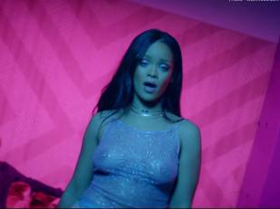 rihanna bare breasts star in work music video with drake 7062 17