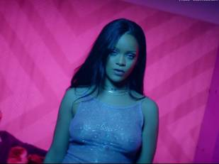rihanna bare breasts star in work music video with drake 7062 18