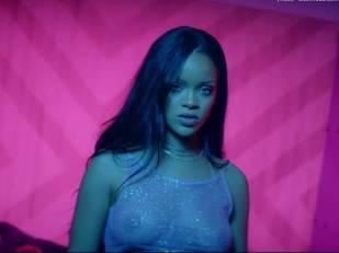 rihanna bare breasts star in work music video with drake 7062 19