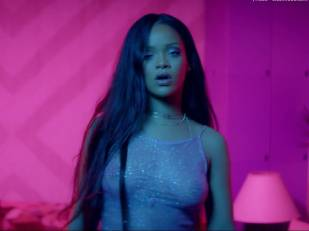 rihanna bare breasts star in work music video with drake 7062 2