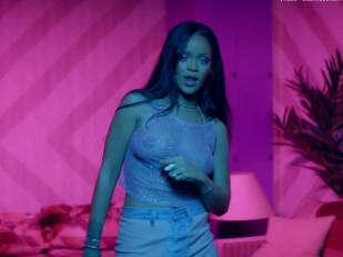 rihanna bare breasts star in work music video with drake 7062 20