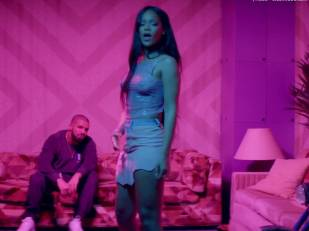 rihanna bare breasts star in work music video with drake 7062 24