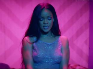 rihanna bare breasts star in work music video with drake 7062 25