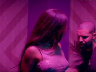 rihanna bare breasts star in work music video with drake 7062 31