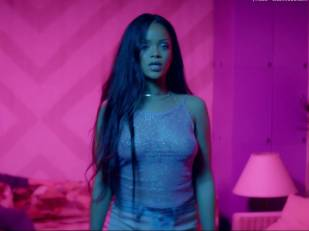 rihanna bare breasts star in work music video with drake 7062 4