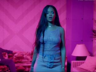 rihanna bare breasts star in work music video with drake 7062 5