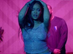 rihanna bare breasts star in work music video with drake 7062 6
