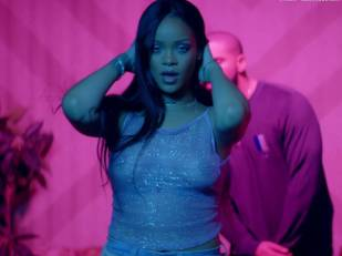 rihanna bare breasts star in work music video with drake 7062 7