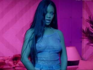 rihanna bare breasts star in work music video with drake 7062 9