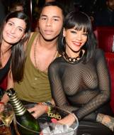 rihanna breasts in totally see through mesh top at paris party 4015 1
