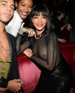 rihanna breasts in totally see through mesh top at paris party 4015 2
