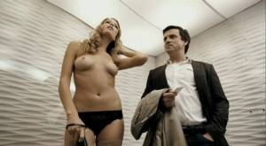 ruby brown topless in an elevator from french kiss 0783 11