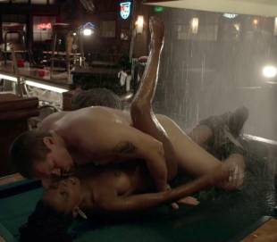 shanola hampton nude sex on pool table on shameless 9749 14