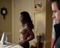 shanola hampton topless ironing on shameless 2394 11