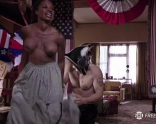 shanola hampton topless to overcome on shameless 1416 5