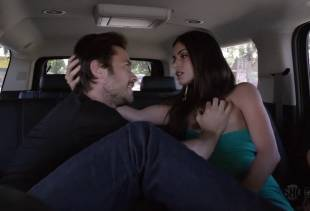 stephanie fantauzzi topless for car ride on shameless 4432 7
