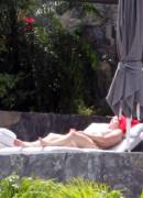 stephanie seymour topless sunbathing on holiday 2373 6