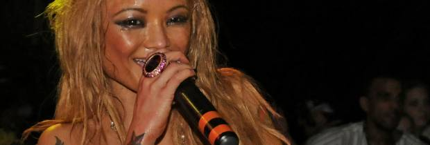 tila tequila topless on stage at juggalos 2989