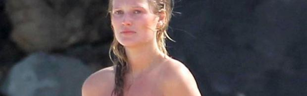 toni garrn topless cool at beach for photoshoot 4118