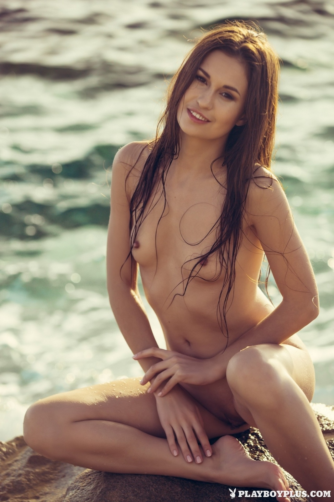 Demi Fray Nude At Beach For Playboy 10