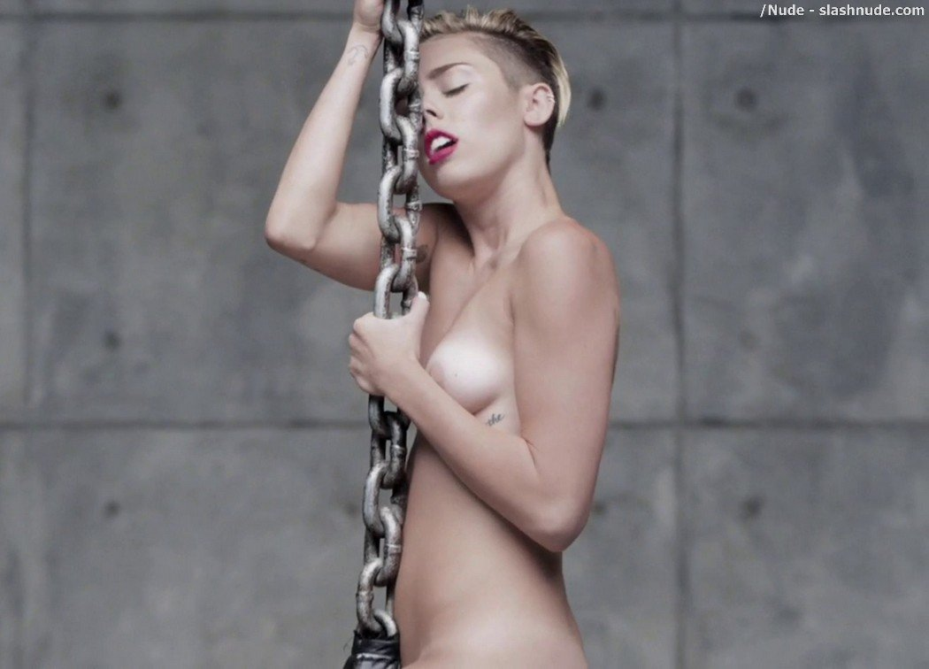 Miley Cyrus Nude In Leaked Uncensored Wrecking Ball Video 30