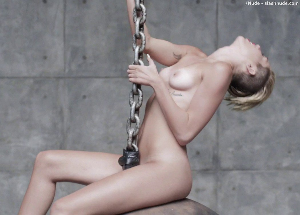 Miley Cyrus Nude In Leaked Uncensored Wrecking Ball Video 34