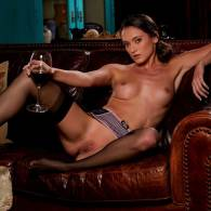 deanna greene nude with a glass of wine for playboy 10