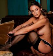 deanna greene nude with a glass of wine for playboy 5