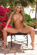 tahlia paris nude in backyard for playboy 5045 3