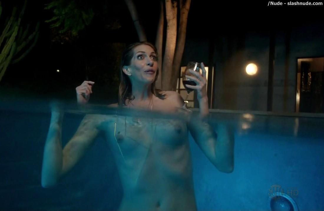 Dawn Olivieri Breasts, Thong Scene In House Of Lies