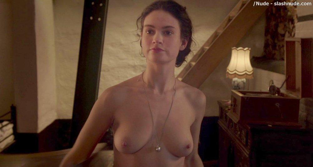 lily james sex scene