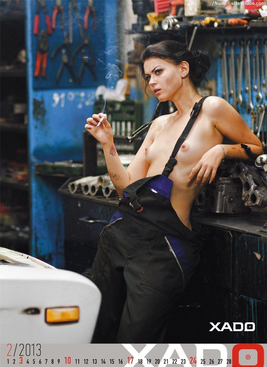 Girl Mechanic Nude nude girls in cars for xado official 2013 calendar - photo 3