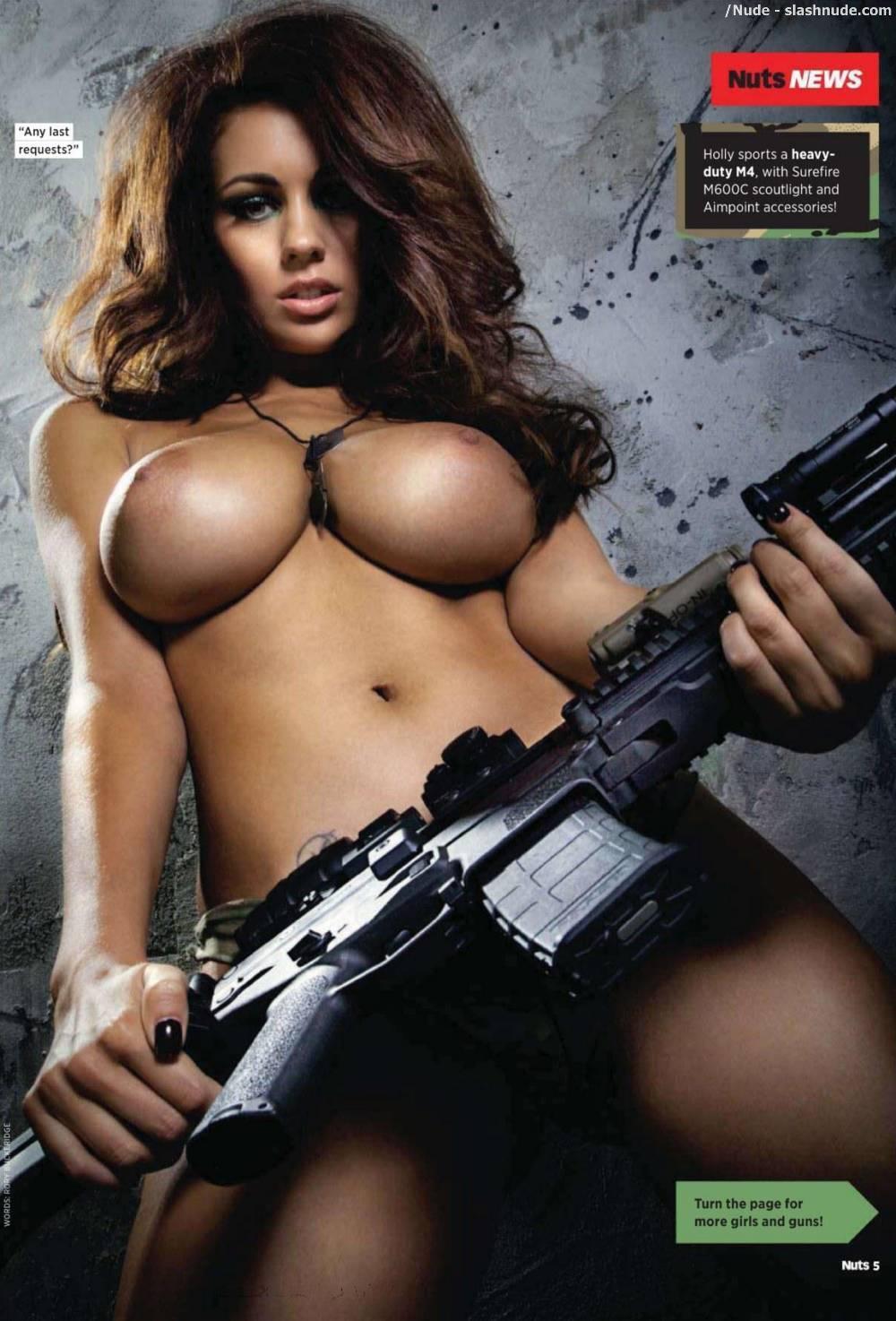 Shooting Guns Topless